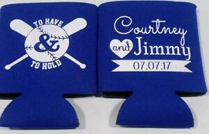 to have and to hold baseball custom wedding koozies beer can no minimums sp2412