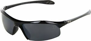 Under Armour Zone Sunglass Shiny Black Frame W Gray Polarized W Multiflection