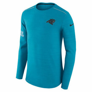 Nike Dri-FIT 2017 NFL Carolina Panthers Sideline Player Long Sleeve T-Shirt NWT