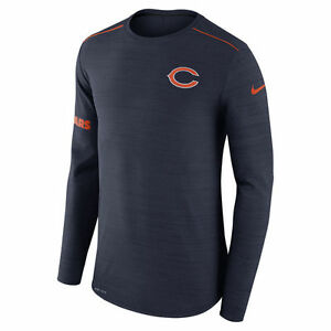 Nike Dri-FIT 2017 NFL Chicago Bears Sideline Player Long Sleeve T-Shirt NWT