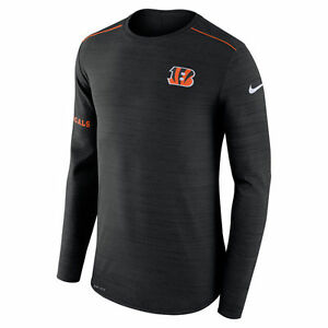 Nike Dri-FIT 2017 NFL Cincinnati Bengals Sideline Player Long Sleeve T-Shirt NWT