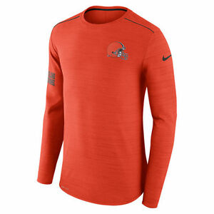 Nike Dri-FIT 2017 NFL Cleveland Browns Sideline Player Long Sleeve T-Shirt NWT
