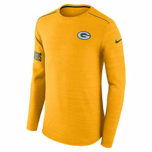 Nike Dri-FIT 2017 NFL Green Bay Packers Sideline Player Long Sleeve T-Shirt NWT