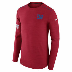 Nike Dri-FIT 2017 NFL New York Giants Sideline Player Long Sleeve T-Shirt