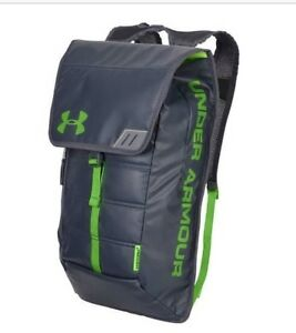 NWT Under Armour Tech Storm Backpack gym men's bag laptop travel grey green