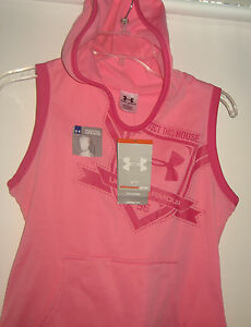 Under Armour Girls Size XL 18 20 PINK YXL Ponytail Hoodie Top & Pants Hoody New+