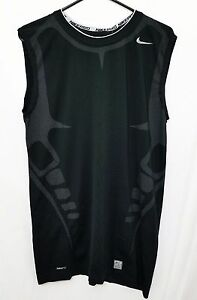 NWT Nike Pro Tight Men's Compression Sleeveless Shirt 3XL Fit Dry Black Work Out