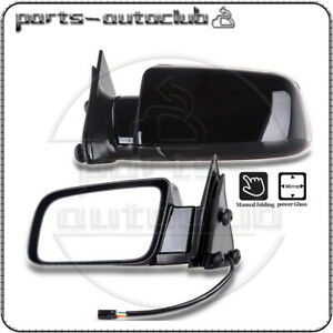 Pair Left amp; Right Power Non Heated Side View Mirrors For Cadillac Chevrolet GMC $56.47