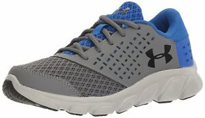 Under Armour Boys Pre-School Rave Running Shoes GraphiteUltra Blue 1 M US Kid