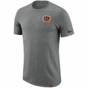 Limited Edition Nike Dri-FIT NFL 2017 Cincinnati Bengal Dry Marled Patch T-Shirt