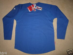 Chicago Cubs MLB Pregame Majestic Under Jersey Long Sleeve Shirt M Med NEW