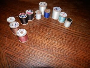 Lot of 11 Wooden Sewing Spools Free Shipping Lot Six $11.00