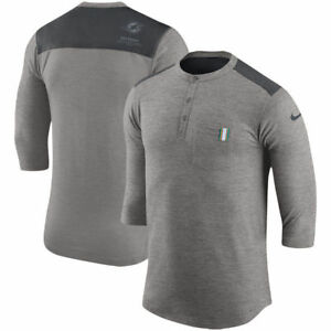 Limited Edition Nike Dri-FIT 2017 NFL Miami Dolphins Henley 34 Sleeve T-Shirt