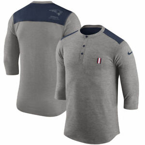 Limited Edition Nike Dri-FIT NFL New England Patriots Henley 34 Sleeve T-Shirt