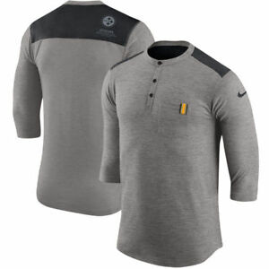 Limited Edition Nike Dri-FIT NFL Pittsburgh Steelers Henley 34 Sleeve T-Shirt