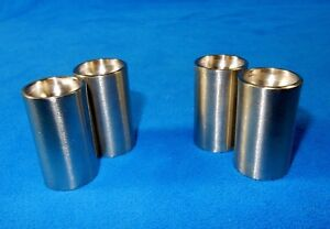 Salt & Pepper Shakers, Personal Size, Set of 4 AMCO Stainless Steel, 1