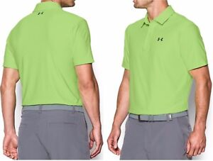 Under Armour Men's Playoff Golf Polo shirt loose fit CeleryAcademy Green NWT