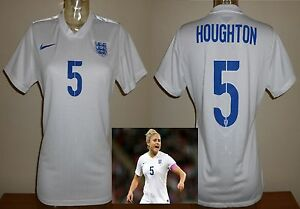 England ladies football shirt 2014 match wornplayer issue STEPH HOUGHTON womens