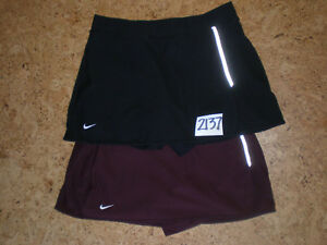 (Small) Lot of 2 Nike FIT DRY Womens Athletic Tennis Golf Skorts Skirt w Shorts