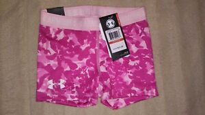 Under Armour Girls Heatgear Shorty Fitted Size Youth X Small Retail $24.99