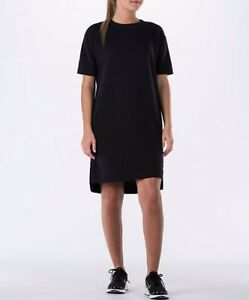 New Nike Sportswear Modern Casual Dress Women short sleeve Black size XS $80