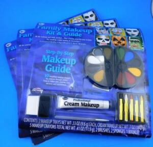 Fun World Family Makeup Kit Guide Halloween Christmas Stage Theater Clowns x 3 $15.99
