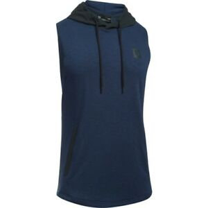 Under Armour Sportstyle Sleeveless Hooded Mens T-shirt Sports Top - Midnight