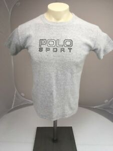Vtg Polo by Ralph Lauren POLO SPORT spellout Grey short sleeve T-shirt M-L USA
