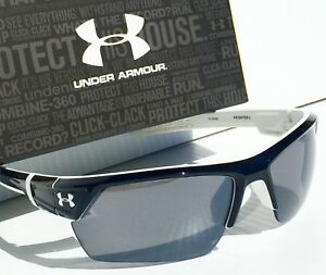 NEW* Under Armour IGNITER 2.0 BLACK White w Grey Lens Sunglass UA Athletic SAVE!
