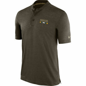 Nike Dri-FIT 2017 NFL Salute to Service Green Bay Packers Sideline Polo Shirt