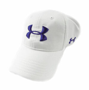 NEW Under Armour Performance Heat Gear WhiteNavy Fitted SM HatCap