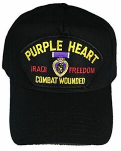 PURPLE HEART COMBAT WOUNDED IRAQI FREEDOM VETERAN OIF HAT CAP WIA DISABLED