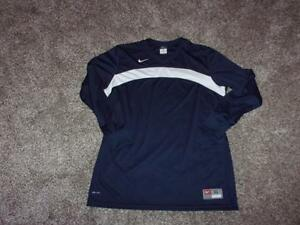 NIKE TEAM DRI-FIT Jersey Shirt  XL Navy Blue 100% Polyester Excellent Condition