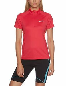 Odlo Poise Women's Short-Sleeved Running Shirt with Stand-Up Collar and 12 Zip
