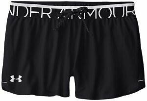 Under Armour Girl's Play Up Shorts - Black MediumYouth