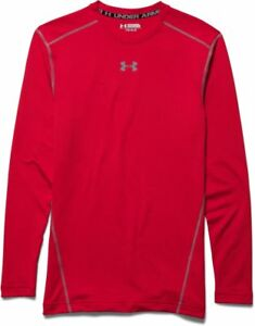 Under Armour Men UA CG ARMOUR CREW Long-sleeve Shirt - Red XXL