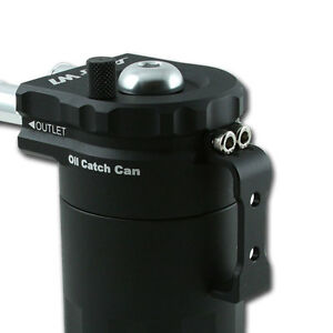 OIL CATCH TANK WITH INTERNAL FILTER DIPSTICK OIL SEPARATOR Tuning Black NEW