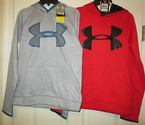 UNDER ARMOUR BOYS LOT OF 2 HOODIE  SWEAT SHIRT SIZE YOUTH LARGE NEW WITH TAGS