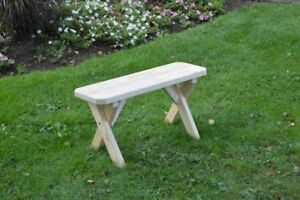 A&L Furniture Co. Amish-Made Pressure-Treated Pine Cross-Leg Benches In 6 Sizes