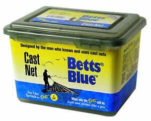 Betts Blue 10-Feet Mono Live Bait Net with Lead Weight and 12-Inch Mesh