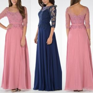 Mid Sleeve Lace Mother of the Bride Dress Plus Size Mother Prom Evening Dress