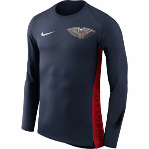 NBA 2017-2018 Nike Dri-FIT New Orleans Pelicans Elite Shooter Long Sleeve Shirt