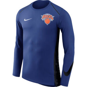 NBA 2017-2018 Nike Dri-FIT New York Knicks Elite Shooter Long Sleeve Shirt