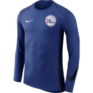 NBA 2017-2018 Nike Dri-FIT Philadelphia 76ers Elite Shooter Long Sleeve Shirt