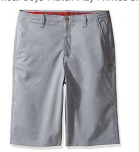 Under Armour Golf Shorts Boys Match Play Printed Size 16 Large New