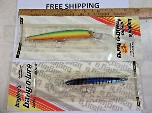 BAGLEY DEEP DIVING 5 INCH AND 4 INCH NEW IN PACK BANG-O-LURE FISHING LURE NOS