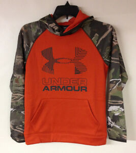 Under Armour 2018 Boys UA AF Fleece Camo Big Logo Hoodie Hooded Sweatshirt Hoody