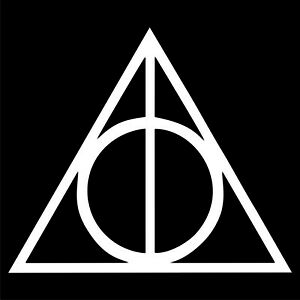 Deathly Hallows Decal / Sticker - Choose Color & Size - Harry Potter