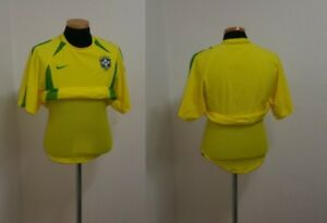 (M) BRAZIL SHIRT JERSEY LONG SLEEVE L S PLAYER ISSUE DOUBLE LAYER NIKE