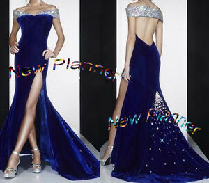 U4841 Mater piece Women Formal Gown Evening dress SWAVORSKI stone Custom made